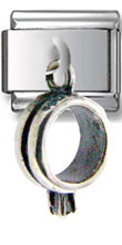 Engagement Ring Sterling Silver Charm