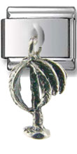 Palm Tree Dangle Silver Charm