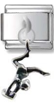 Gymnast sterling Silver Charm
