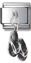 Flip-Flops Sterling Silver Dangle Charm