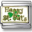 Happy St. Pats Italian Charm