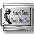 Custom Wedding Names, Date, Year Laser Charm