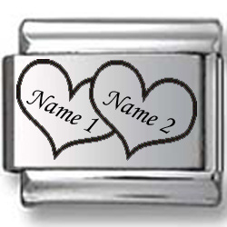 Custom Names in Hearts Laser Charm