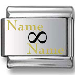 Gold and Black Custom Name and Name Laser Charm V.2