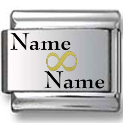 Black and Gold Custom Name and Name Laser Charm V.1
