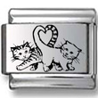 Cats Making Heart Laser Charm