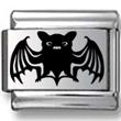 Black Bat Laser Charm
