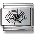 Spider Web Laser Charm