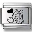 Tiger Drawing Laser Charm