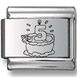 Birthday Cake Five Years Old Laser Charm