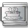 Birthday Cake Ten Years Old Laser Charm