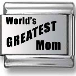 World's Greatest Mom Laser Charm