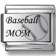 Baseball Mom Laser Charm