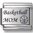 Basketball Mom Laser Charm