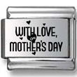 With Love Mother's Day Laser Charm