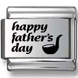 Happy Father's Day Pipe Laser Charm