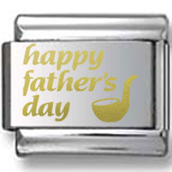 Father's Day with Pipe Gold Laser Charm