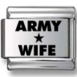 ARMY WIFE Laser Charm