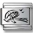 Beach Umbrella Laser Charm