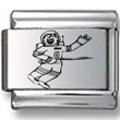 Astronaut Laser Charm