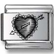 Scribbly Heart & Arrow Laser Charm
