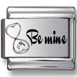 Be Mine Open Ring Box Laser Charm