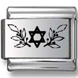Star of David with Fig Leaves Laser Charm