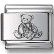 Teddy Bear Drummer Laser Charm