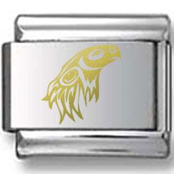 Indian Eagle Gold Laser Charm