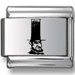 Tall Hat Lincoln Laser Charm