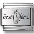 Best Friends Laser Charm
