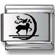 Reindeer Black Laser Charm