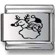 Rudolph and Santa Laser Charm