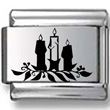 Black and White Candles Laser Charm