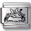 Happy Bunny Laser Charm