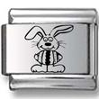 Bunny Holding Egg Laser Charm
