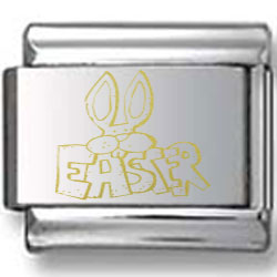 Easter Bunny Ears Gold Laser Charm