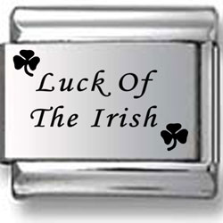 Luck of the Irish Laser Charm