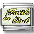 Faith in God Photo Charm
