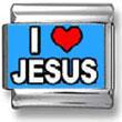 I Love Jesus Blue