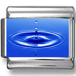 Blue Water Drop Photo Charm