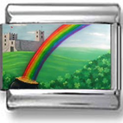 Rainbow and Pot of Gold Photo Charm