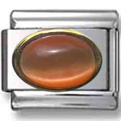 October Rhodolite Birthstone Charm