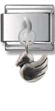 Duck Sterling Silver Italian Charm