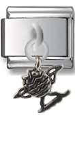 Fish Sterling Silver Italian Charm