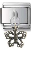 Butterfly Sterling Silver Italian Charm