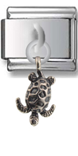 Turtle Sterling Silver Italian Charm