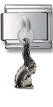 Bunny Sterling Silver Italian Charm