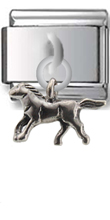 Horse Sterling Silver Italian Charm