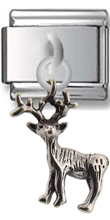 Deer Sterling Silver Italian Charm
